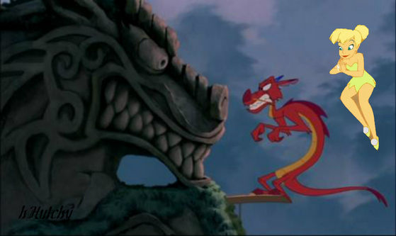 Tink playing games tells Mushu that she LIIIIIIKES brave men.