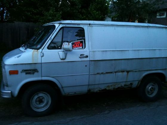 The White van michael saw coming up the street...