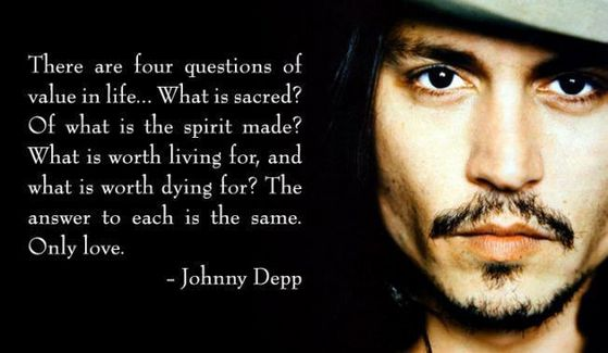 Qoute from Johnny Depp