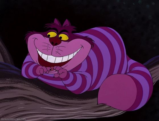 How can anda not Cinta the Cheshire Cat (or should I say the Sun Cat, that was his original name)?