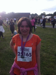 Me after I had ranned a 5K race, I did it in 26 minutes!