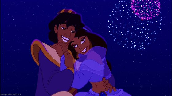 Pics For > Aladdin Jasmine Kiss