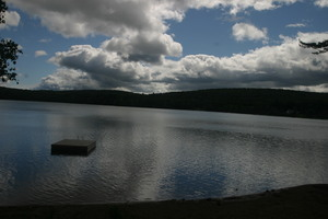 Stacey's lake photo, inspiration for one painting