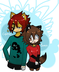 Castiel And Luana-Neko (c) Zero-Aka