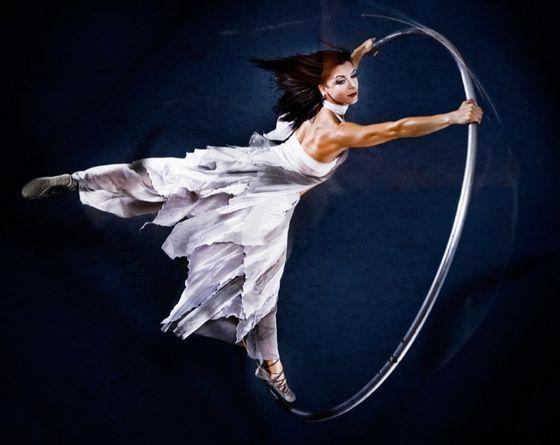 Cyr Wheel performer