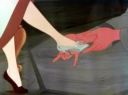 There lies the glass slipper