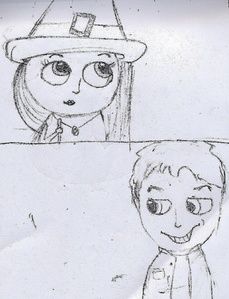 Okay,I tried to make a drawing,but all pf them were horrible,so I have some old drawings,unfortunatel