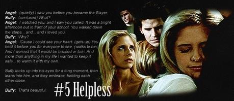 siku 4 [Your inayopendelewa hug.] So many good hugs but I'm gonna go with <i>Helpless</i>. I upendo the wh