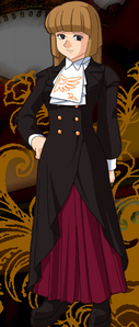 Hmm Maybe Rosa Ushiromiya from Umineko (with her disensyo from the visual novel)