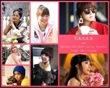 Group: Y.E.O.J.A (well I don't know-__-) SNSD Sunny: lead vocalist, lead rapper 2NE1 Bom: main vocali