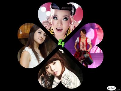 Group name: The Awesome 4 Members: Dara-Leader Hyoyeon-Main Dancer Hyuna-Main Rapper Gyuri-Main Voca