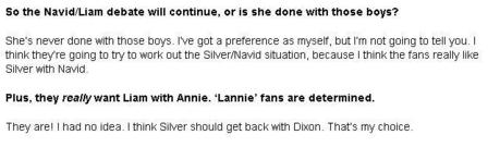 I cut his out from Silver's interview about 90210 season 5. Lannie sounds so promising!! I'm crossing