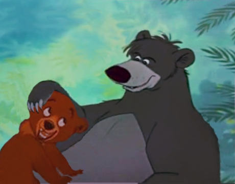 Father urso (Please don't tell me that they are not the same kind of bear) Father-Son, Baloo-Koda