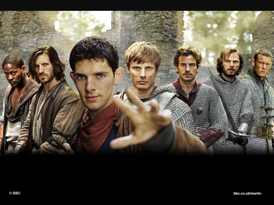 Angelina Johnson! WOO! er... colin morgan! (merlin in the center)