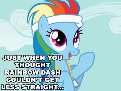 Why do bronies hate it when इंद्रधनुष Dash is called a lesbian? I don't see any harm in assuming she's