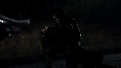 ♥Round three - Still from 'Bloodlines' Season 1 - Damon rescues Elena♥