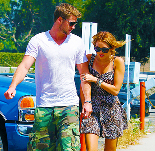 Miley with Liam :]