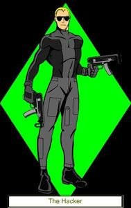(I guess I'll start) Name: The Hacker (Real name: Cole Jericho) Age: 17 Powers/Gadgets/Weapons: Co