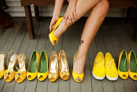 Mine. Many yellow shoes :D