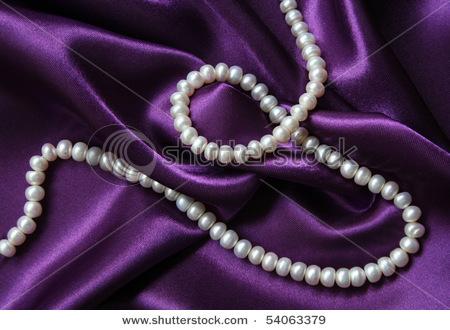 Pearls on violet.