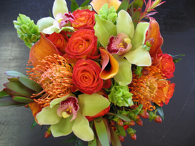 Green and orange flower's!
