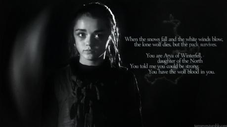 Jaqen H'ghar 264 (+) Brienne of Tarth 162 (-)