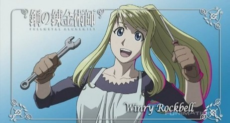 ^Yea you're probably correct in that. Winry from Full Metal Alchemist.