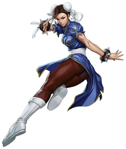 Here's Chun-Li from calle Fighter III.