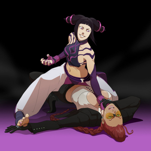 C'mon Juri! 显示 that 婊子, 子 毒蛇 what happens when 你 steal Juri's spot in MVC3!