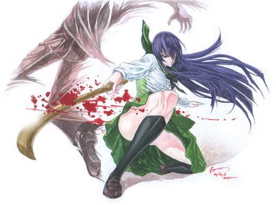 Saeko Busujima from Highschool of the dead.