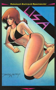 I am officially convinced that Lisa should've entered the Miss Macross contest.