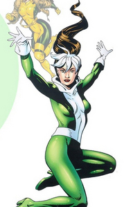 Rogue from X-men. Since there's tons of 아니메 girls I thought I change it up. I'll probably post so