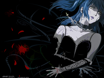 Misa Amane from Death Note Here she actually looks badass. LIKE really badass. This definitely one o