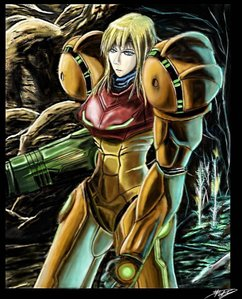 Samus Aran from the Metroid games.