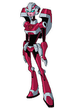 Even though I prefer the G1 and Prime appearances of Arcee, I do like her transformers Animated look