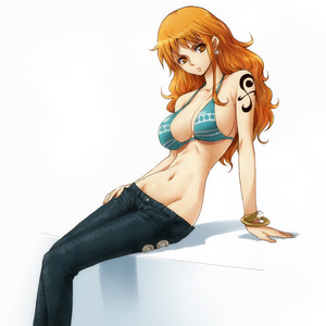 Nami from One piece.
