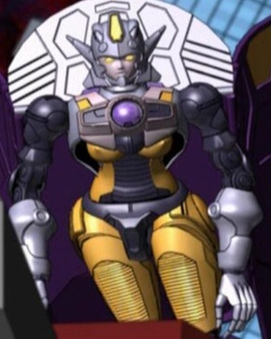 Thunderblast from トランスフォーマー Cybertron. If あなた look closely at her chest, あなた can see she has so