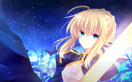 Saber. One of the few fictional girls who can compete with marisa for being one of my favorito! charac