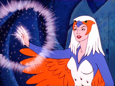 The Sorceress from He-Man. I'd post someone from She-Ra, but I haven't seen that mostrar yet, so...