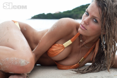 Brooklyn Decker. I'll post one pic while she is working and one while she isn't modeling albeit m