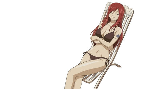 I am seriously in amor with Erza Scarlet. No joke... Badass warrior and beautiful. Win win combo.