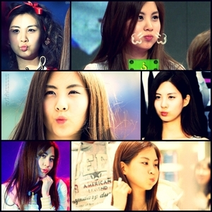 here is my cute seororo pouting parade<br /> nxt seohyun with her unnies in the house