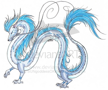 (His dragon form.)