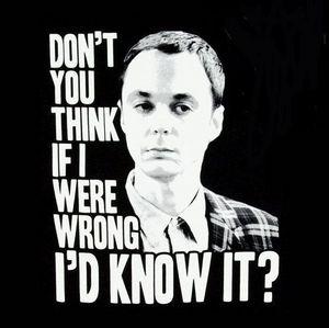 Day 1 - Favourite male character   Gotta be Sheldon!