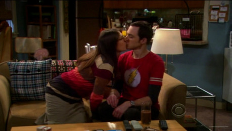 "[b]Day 7: [u]Best Kiss.[/u][/b] Sheldon and Amy drunken Kiss (4x21), ""Fascinating"" :P"