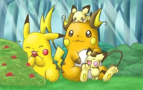Pichu Pikachu nd Raichu