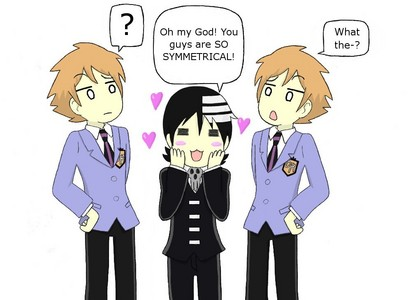 Found one with Excalibur, but this one has Kid (and the twins from Ouran) so it was perfect! Hm, oka