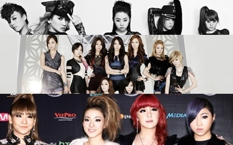 "395.""I feel like there's some kind of race between these three(Wonder girl 2ne1 snsd) of who w"