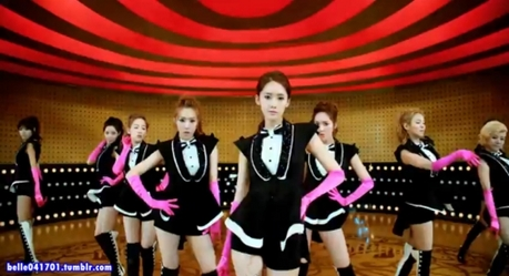 """642.""""SNSD always dance good during practice, but they're so sloppy on stage. They're all over the"""