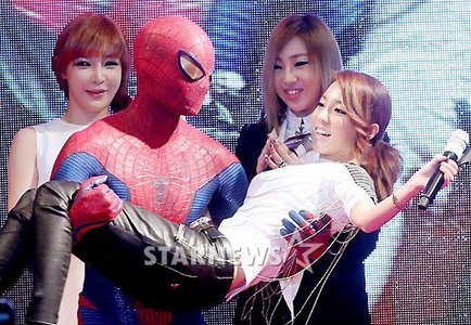 """656.""""Who knew Spiderman would be Dara's latest fanboy :P"""""""